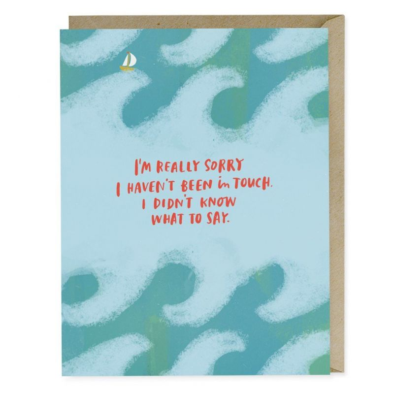 I Didn't Know What to Say Empathy Card