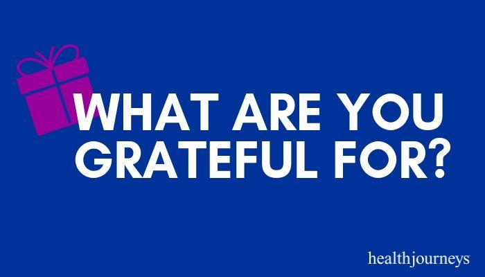 Health Journeys Gratitude Corner